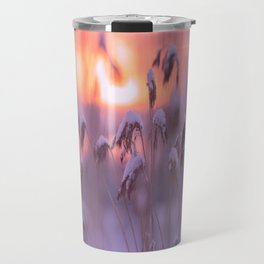 Snowy Reeds Sunset Purple Tone #decor #society6 #homedecor #buyart Travel Mug