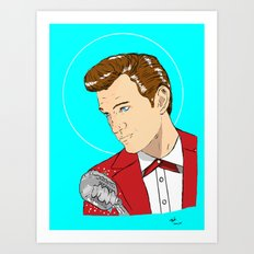 Isaak In Red Art Print