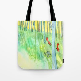 Summer Woods and Critters Tote Bag