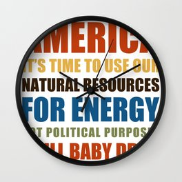 American Energy Wall Clock