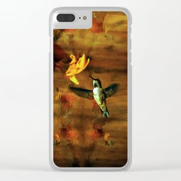 Hovering Hummingbird Clear iPhone Case