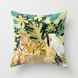 Tiger Sighting Throw Pillow