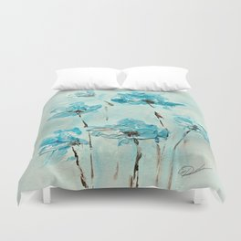 Flowers (in acrylic paint) Duvet Cover