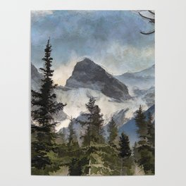 The Three Sisters - Canadian Rocky Mountains Poster