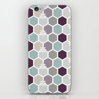 honeycomb iPhone & iPod Skins featuring Honeycomb by Kathrin Legg