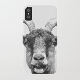 Black and White Goat iPhone Case