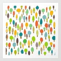 Wood U Colorful Art Print