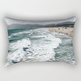 Mountains and Waves Rectangular Pillow
