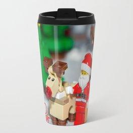 Santa and Rudolf Travel Mug