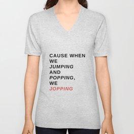 jumping & popping Unisex V-Neck