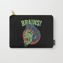 Zombie Looking For Brains Because He's Hungry Carry-All Pouch