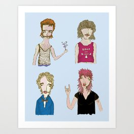 The Great Mullet Collection Art Print