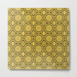 Primrose Yellow Star Metal Print