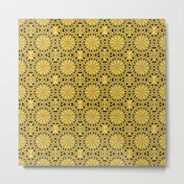 Primrose Yellow Star Metal Print