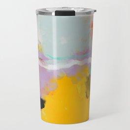 yellow blush abstract Travel Mug