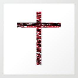 Frances Biblical ART CROSSES BEAUTY Art Print