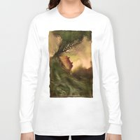 wind Long Sleeve T-shirts featuring Wind by Iris V.