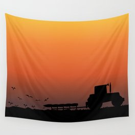 Ploughing the Field Wall Tapestry