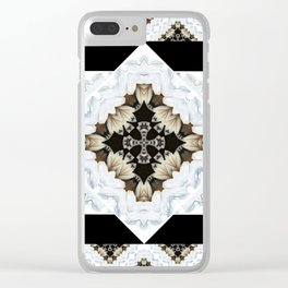 diamond cross pattern with borders Clear iPhone Case