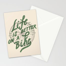 Life Is Better On A Bike Stationery Cards