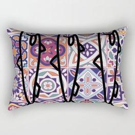 Azulejos Portugal sardine Rectangular Pillow