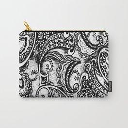 paisley batik black Carry-All Pouch