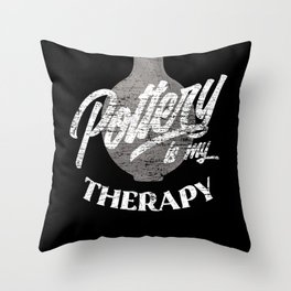 Pottery Therapy Throw Pillow