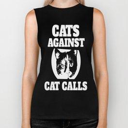 Cats against catcalls Biker Tank