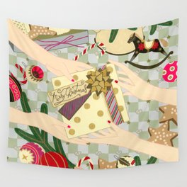 Merry Christmas gift Wall Tapestry