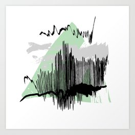 Green mess Art Print