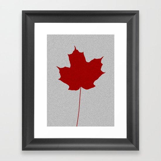 Leaf de jour Framed Art Print