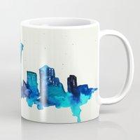 seattle Mugs featuring Seattle  by Talula Christian