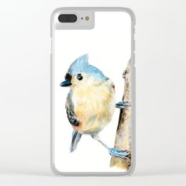 Tufted Titmouse by Teresa Thompson Clear iPhone Case