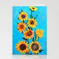 sunshine Stationery Cards featuring SUNSHINE by Jordan Soliz