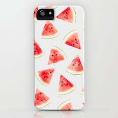 Watercolor Watermelon Pattern #society6 #buyart #decor iPhone SE Slim Case