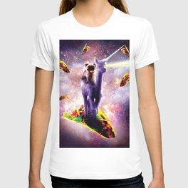 Cosmic Pug Riding Alpaca Unicorn T-shirt