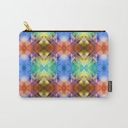 Mixed Media Abstract Pattern Carry-All Pouch