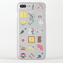 CUTE NINJA PATTERN Clear iPhone Case