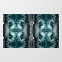 jack frost Area & Throw Rugs featuring Frost by Gun Alfsdotter