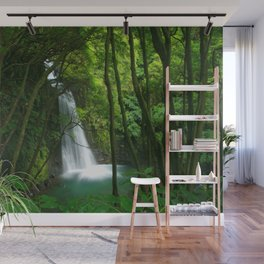 Waterfall in the Azores Wall Mural