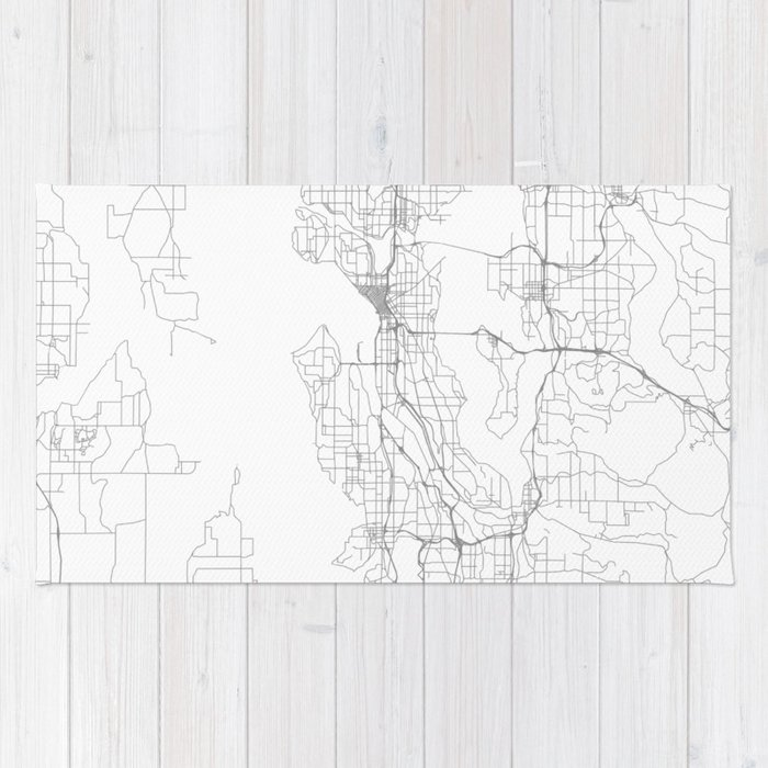 Seattle United States Minimalist Map Rug By Resfeber Society6