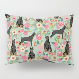 Doberman Pinscher florals must have dog breed gifts for dog person with doberman Pillow Sham