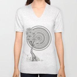 Sunrise Mandala with Tree Unisex V-Neck