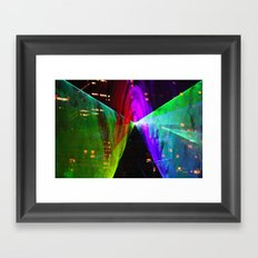 Tunnel of Light Framed Art Print