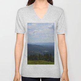 Stowe, Vermont Mountains Unisex V-Neck
