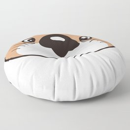 the face of the baby sea otter Floor Pillow