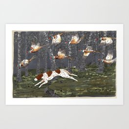 Pheasant Hunt Art Print