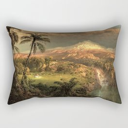 Passing Shower in the Tropics by Frederic Edwin Church Rectangular Pillow