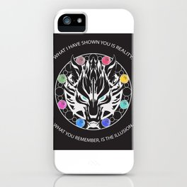 Silver Fenrir with Materia iPhone Case