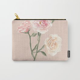 Vintage Watercolor Rose Blush Tones Carry-All Pouch